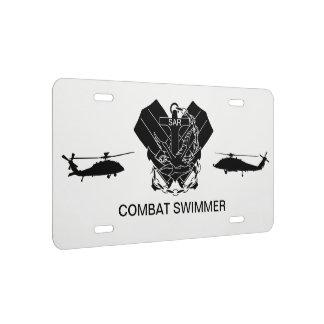 Placa - nadador del combate