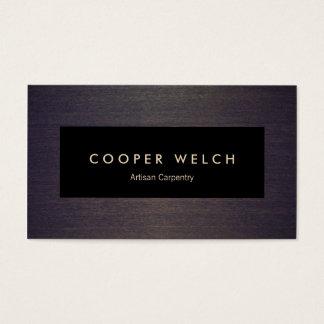 Placa negra profesional elegante en la madera tarjeta de visita