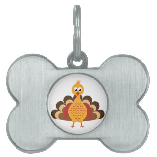 Placa Para Mascotas Acción de gracias Turquía