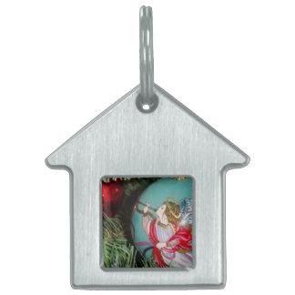 Placa Para Mascotas Ángel del navidad - arte del navidad -