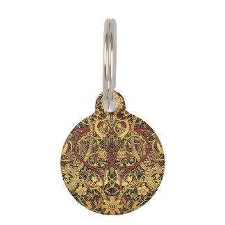 Placa Para Mascotas Arte floral de la tapicería de William Morris