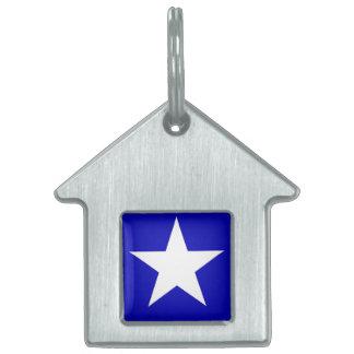 Placa Para Mascotas Bandera azul de Bonnie