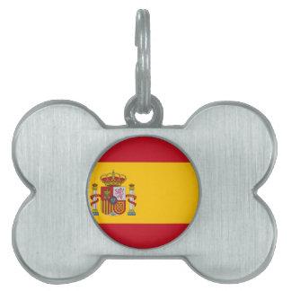Placa Para Mascotas Bandera de España