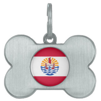 Placa Para Mascotas Bandera de Polinesia francesa