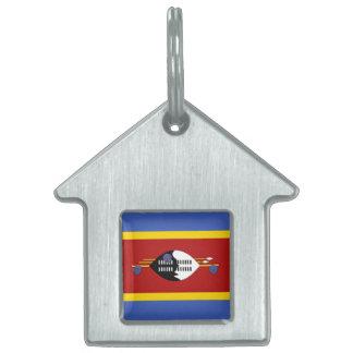 Placa Para Mascotas Bandera de Swazilandia