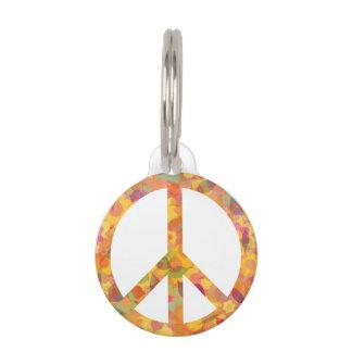 Placa Para Mascotas Belleza de la paz