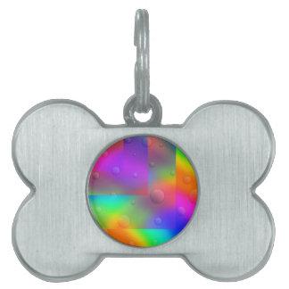 Placa Para Mascotas Burbujas