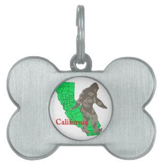 Placa Para Mascotas California Bigfoot