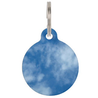 Placa Para Mascotas Cielo azul con las nubes