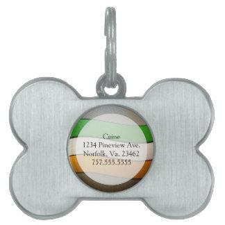 Placa Para Mascotas Color-Cromo de la bandera de Irlanda de Shirley