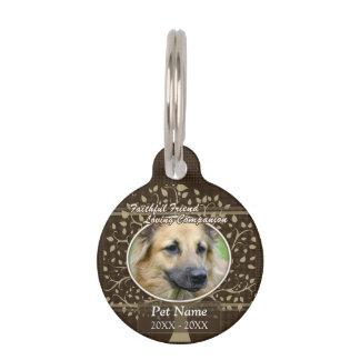 Placa Para Mascotas Condolencia de encargo del mascota del amigo fiel