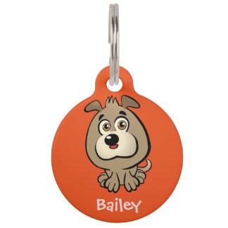 Placa Para Mascotas Dibujo animado adaptable del perrito