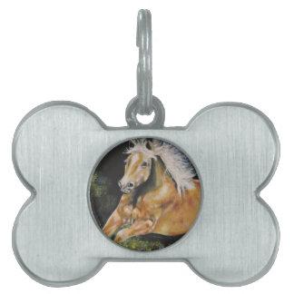 Placa Para Mascotas El mustango americano