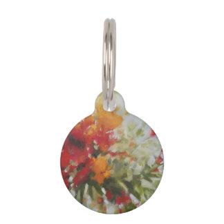 Placa Para Mascotas el ramo fresco florece la pintura del arte de la