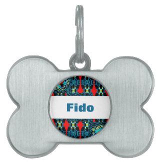 Placa Para Mascotas Estilo Crocheted en la etiqueta conocida del