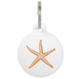 Placa Para Mascotas Estrellas de mar