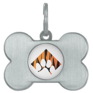 Placa Para Mascotas Etiqueta 2 del mascota de Tigerpaw
