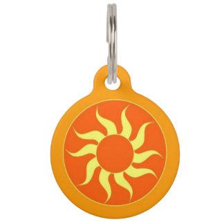 Placa Para Mascotas Etiqueta anaranjada de la identificación del