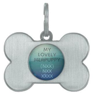 Placa Para Mascotas Etiqueta coloreada plata de la identificación del
