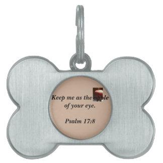 Placa Para Mascotas Etiqueta cristiana inspiradora del mascota