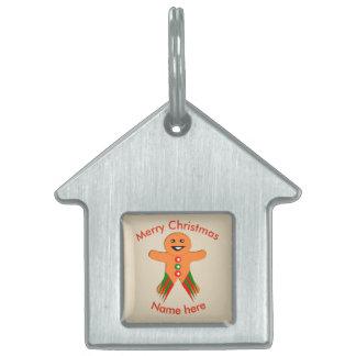 Placa Para Mascotas Etiqueta de encargo del mascota del hombre de pan