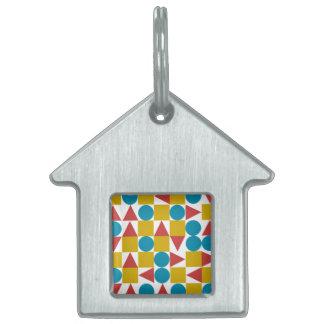 Placa Para Mascotas Etiqueta del mascota del Amo/de la casa