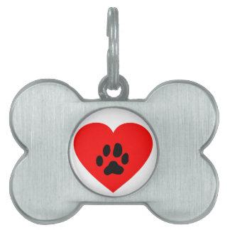 Placa Para Mascotas etiqueta del mascota del hogar