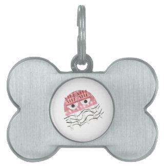 Placa Para Mascotas Etiqueta del mascota del hueso del peine de las