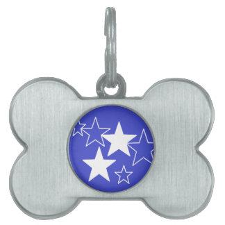 Placa Para Mascotas etiqueta púrpura del mascota de las estrellas
