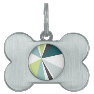 Placa Para Mascotas Explosión de color retra del arte geométrico