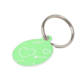 Placa Para Mascotas Flecha del corazón del amor de las tarjetas del