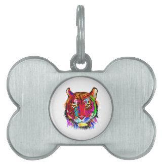 Placa Para Mascotas Gato de muchos colores