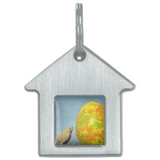 Placa Para Mascotas Huevo y polluelos de Pascua - 3D rinden