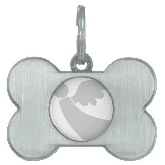 Placa Para Mascotas Icono del ángel