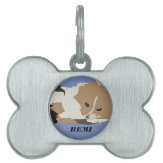 Placa Para Mascotas La etiqueta de Remi