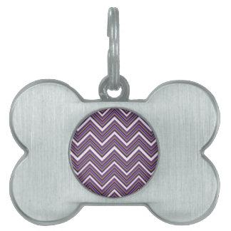 Placa Para Mascotas Majestad púrpura