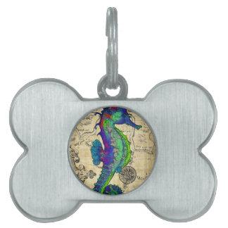 Placa Para Mascotas mapa del papiro del seahorse