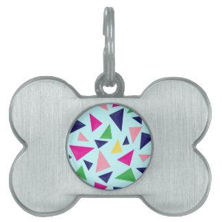 Placa Para Mascotas Modelo geométrico colorido II