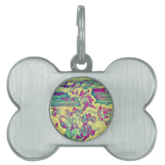 Placa Para Mascotas Nube abstracta artística moderna fresca Formaion
