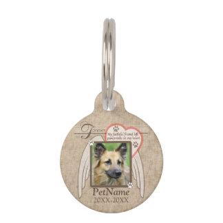 Placa Para Mascotas Personalizado para siempre amado de la condolencia