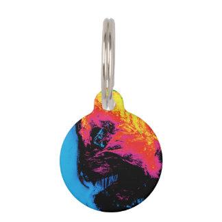 Placa Para Mascotas pimienta y plástico silenciados