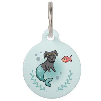 Placa Para Mascotas Pitbull de la sirena