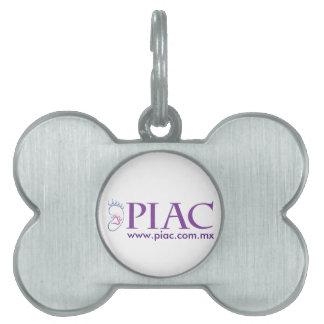 Placa Para Mascotas Placa Identificadora Tipo Hueso PIAC.com.mx