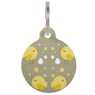 Placa Para Mascotas Polluelos lindos de pascua y pequeño modelo de los