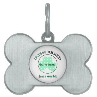 Placa Para Mascotas Raza-apenas irlandesa un pedazo pequenito