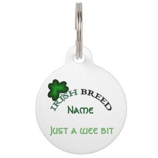 Placa Para Mascotas Raza del irlandés