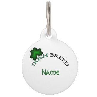 Placa Para Mascotas Raza-etiqueta irlandesa