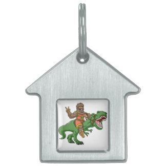 Placa Para Mascotas rex Bigfoot del rex-T del Bigfoot-dibujo animado t