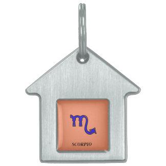Placa Para Mascotas Símbolo del escorpión