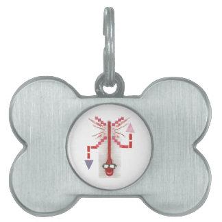 Placa Para Mascotas Sr. Thermostat Bone Pet Tag